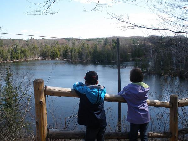 <b>Submitted By:</b> Kim Stern <b>From:</b> Acme Township <b>Description:</b> Hiking along the Sabin Pond Trail, 4/5/10.