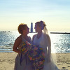 <b>Submitted By:</b> Rick Desrochers <b>From:</b> Orlando <b>Description:</b> Pic of my wife and her sister on her wedding day with the lighthouse in Frankfort in the background