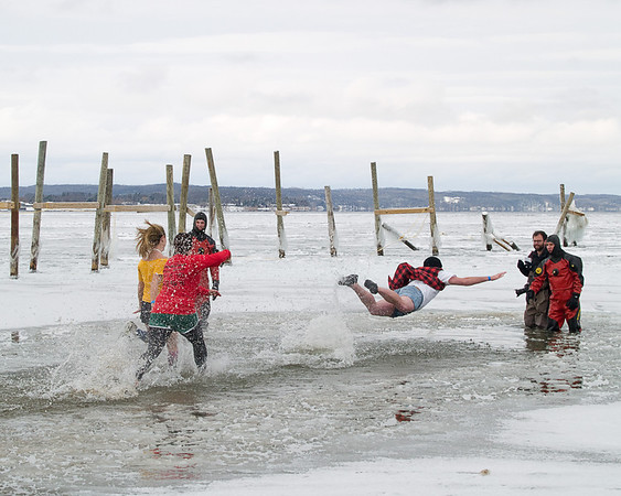 <b>Submitted By:</b> Helen Denoyer <b>From:</b> Traverse City <b>Description:</b> The Polar Bear Plunge put a smile on my face and laughter in my heart.
