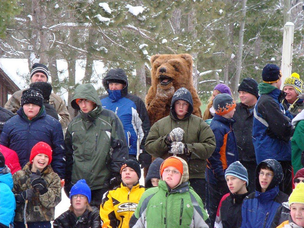 "<b>Submitted By:</b> Michael Coonrod <b>From:</b> Interlochen <b>Description:</b> Boy Scout First Aid Klondike Derby; January 2011 at Interlochen Center for the Arts;Scouts watching ""Jaws-of-Life"" demonstration"