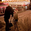 <b>Submitted By:</b> Peggy Sue Zinn <b>From:</b> Traverse City <b>Description:</b> One very cold news caster