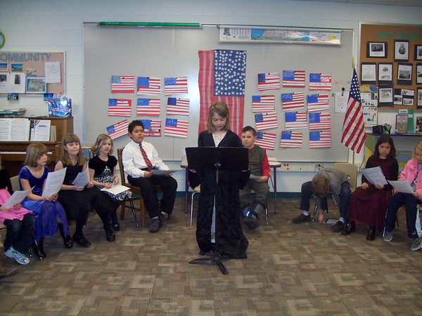 submitted by: Gretchen Eichberger-Kudlack<br /> locoation: Onekama, MI<br /> description: Students at Onekama Elementary celebrate the Presidential <br /> Inauguration at thier own version of the Inauguration and  Inaugural Ball.
