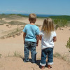 <b>Submitted By:</b> Beth Quartz <b>From:</b> Mesick <b>Description:</b> At the Sand Dunes near Empire, June 2009.  Dylan and Cali Quartz.
