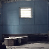 <b>Submitted By:</b> Tali Phillips <b>From:</b> Traverse City <b>Description:</b> This is the Blue Room, it was taken at the State Hospital through one of the many broken windows. July 2010