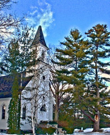 Old Mission Church<br /> <br /> Paul J Nepote - Traverse City, Michigan<br /> Photoshoped for Effect