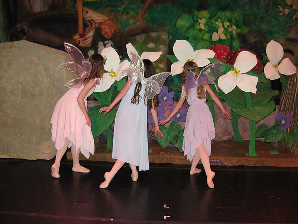 """Marleigh, Brenna and Amber on the set of """"A Midsummer Night's Faery Tale""""."""