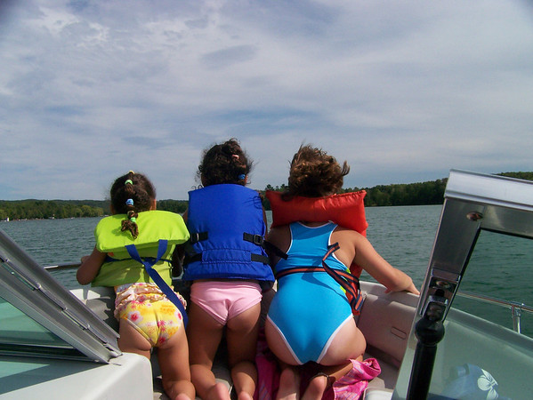 Picture of my granddaughters Bethany, Faith and Kali taken in the summer of <br /> 2008 on our boat in Lake Leelanau<br /> <br /> Taken by Joanne Corcoran of Traverse City.