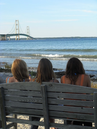 <b>Submitted By:</b> Rendee Rachel Secor <b>From:</b> Interlochen, Michigan <b>Description:</b> Abby, Desi, and  Brianna decised to enjoy their first visit to see the Mackinac Bridge...Of course, we had to drive across.  What an avdenture..