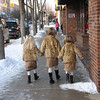 Cousins Haven, Jordan and Madi looking and walking down Front Street in <br /> Traverse City.<br /> <br /> Wendy Webb