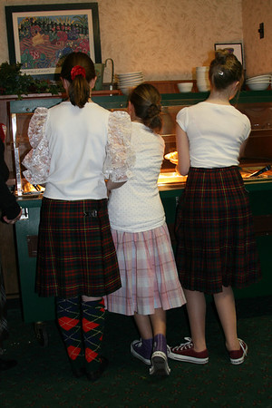 Three Scottish girls Rachel Courville, Jessica Hradek and Alex Friar<br />  Where is the Haggis? Photo by Sue Rehmann