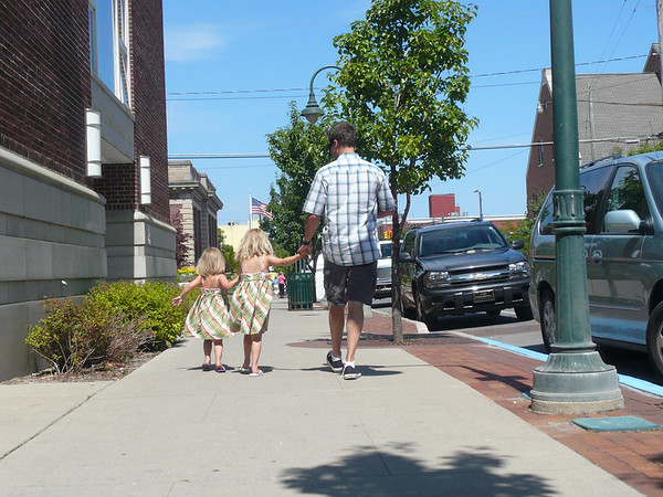 In photo: Jayson, Evelyn and Vivian Allen<br /> <br /> Taking in the sights of downtown Traverse City summer 2008.