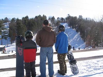 Rob, Steve, Matt Morse on the slopes @ Holiday Hills