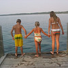 Kyle, Emma, and Madi Togrul at Power Island.