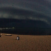 Marc Hunt was on the Sugar Beach on East Grand Traverse just before the large storm on Friday.