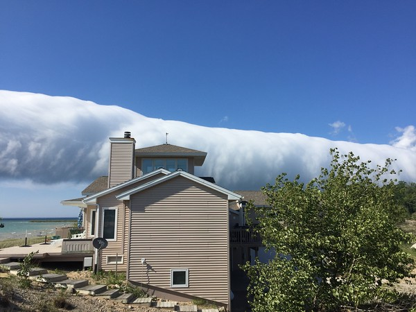 The roll cloud over a home on Cathead Bay. Photo by Clinton Sampson.