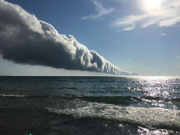 John Fisher got a shot of the cloud.