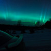 Northern Lights in Benzie County, just got out of the car and the action was already going!<br /> <br /> Photographer's Name: Bob Simmerman<br /> Photographer's City and State: Interlochen, MI
