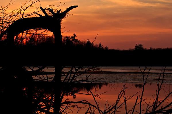 <b>Submitted By:</b> Andrew C. Boyd <b>From:</b> Interlochen <b>Description:</b> Ellise Lake Sunset.Interlochen,MI mid March 2012