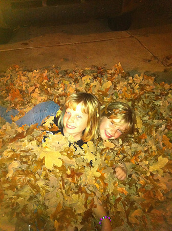 Abby Pirtle and Raefan Pratt enjoying the fall season <br /> <br /> Photographer's Name: Dawn Pratt<br /> Photographer's City and State: Norman, OK