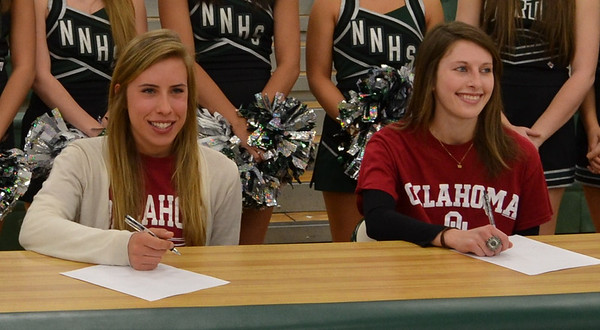 Abbey Mace and Belle Wallace on National Signing Day<br /> <br /> Photographer's Name: Matt Mace<br /> Photographer's City and State: Norman, OK