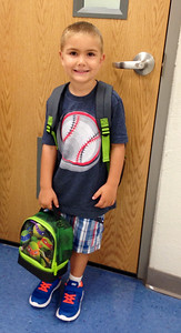 Kyler's first day of kindergarten at Hayes Elementary!  Photographer's Name: Natalie Adams Photographer's City and State: Enid, OK