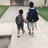 Little one first day of pre K accompanied by big brother <br /> <br /> Photographer's Name: Ivon  Hernandez <br /> Photographer's City and State: Enid , OK