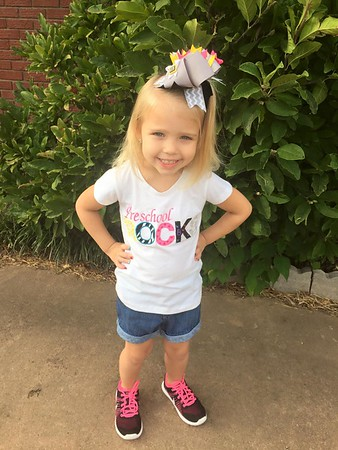 Kennedy's 1st Day of Chisholm Pre-K<br /> <br /> Photographer's Name: Jenny Martin<br /> Photographer's City and State: Enid, OK