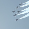The Thunderbirds flew in formation during the Airshow at Tinker Air Force Base on Sunday, June 22, 2014.<br /> <br /> Photographer's Name: Lauren Fischer<br /> Photographer's City and State: Pond Creek, OK