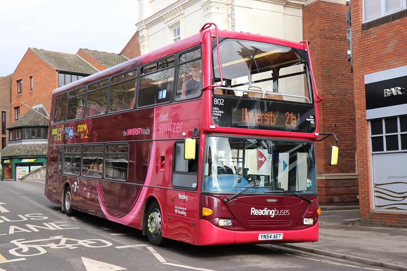 Reading Buses 802 London Street Reading 4 Feb 17