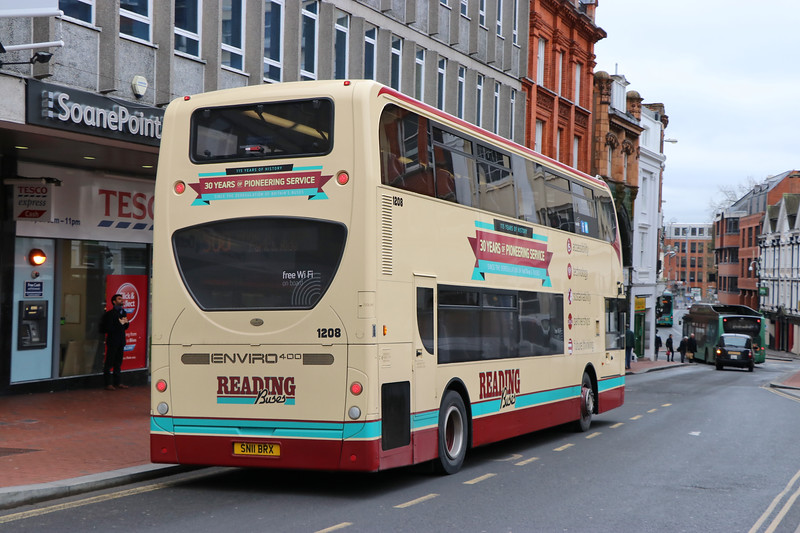 Reading Buses 1208 High Street Reading 3 Feb 17