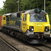 Last FL 70 cop for me, 70018 passes Reading West with 4O51 Wentloog - Southampton