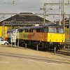 Colas 86701 sits with NSE 86401 at Willesden TMD