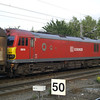 92016 passes Mitre Bridge Jn with 6B63 Wembley - Dollands Moor Cargowaggons
