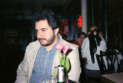 At the Life Cafe, East Village, NYC, 1986 - 1 of 4