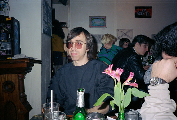 At the Life Cafe, East Village, NYC, 1986 - 2 of 4