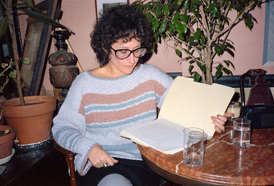 Poetry with Lynne Tillman at La Locanda di Giotto, NYC, 1985 - 1 of 4