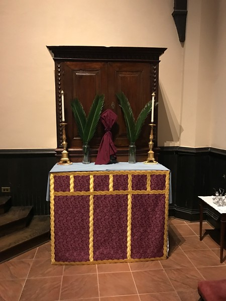 All Saints Altar, closed for Passiontide