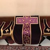 Mass vestments on the sedilia for use after the Blessing & Procession'