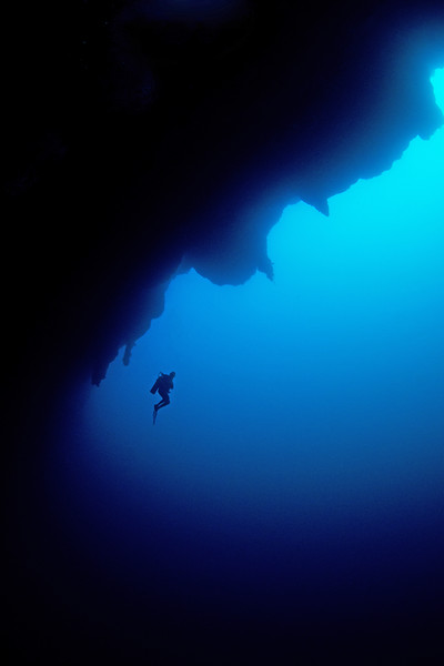 """Lonely Ed""...  in the Great Blue Hole, Belize.  One of Wetpixel's most ""liked"" images!"