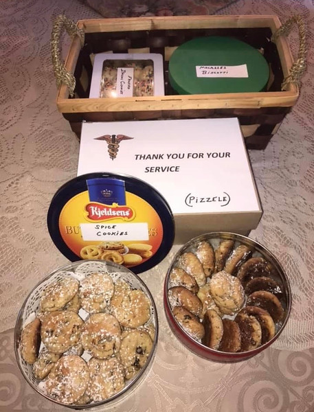Dr. Arthur Lauretano's parents made homemade treats with love for all the staff at LGH.