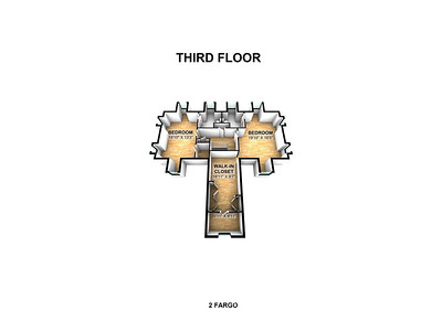 2 Fargo 3rd Floor 3D Scale