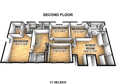 31 Helena - Second Floor 3D
