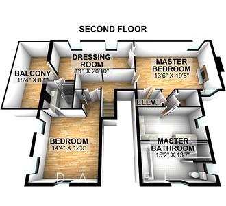215 Milbrooke Ave - Floor 2-3D