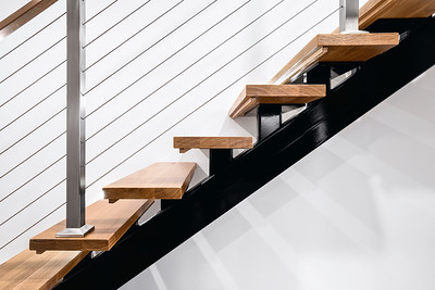 Light Wooden Staircase in Modern Melbourne Home