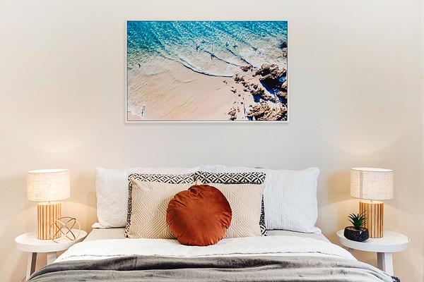 Coastal Themed Bedroom Styling