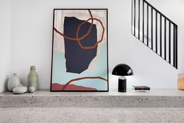 Modern Interior Styling on an Indoor Terrazzo Step