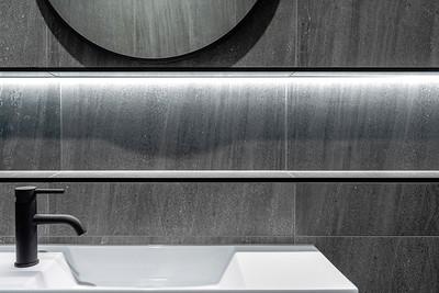 Underlit Wall Niche in a Contemporary Bathroom