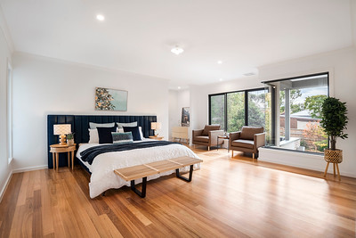 An Impressive Bedroom with Lots of Natural Light