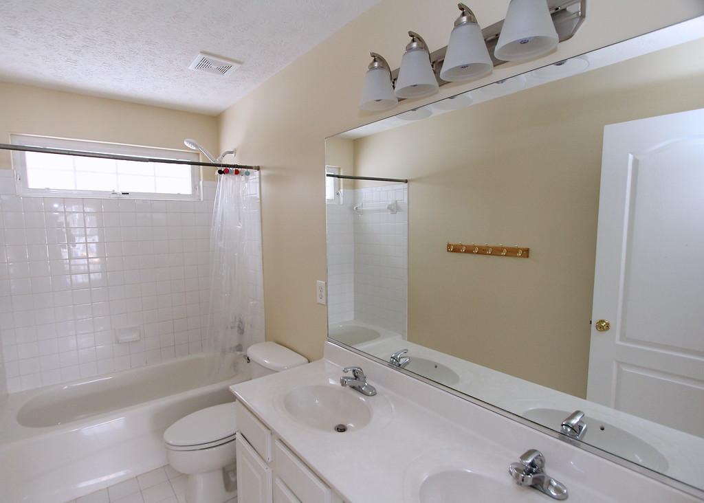 Full bathroom on upper level