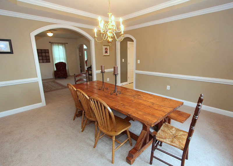 Dining room with upgraded trim.